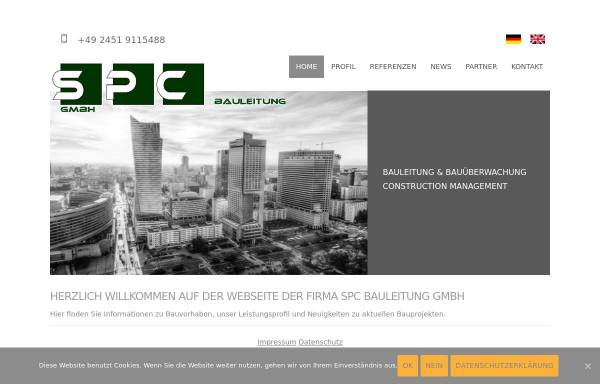Vorschau von spc-bauleitung.de, SPC Bauleitung