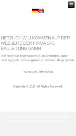 Vorschau der mobilen Webseite spc-bauleitung.de, SPC Bauleitung