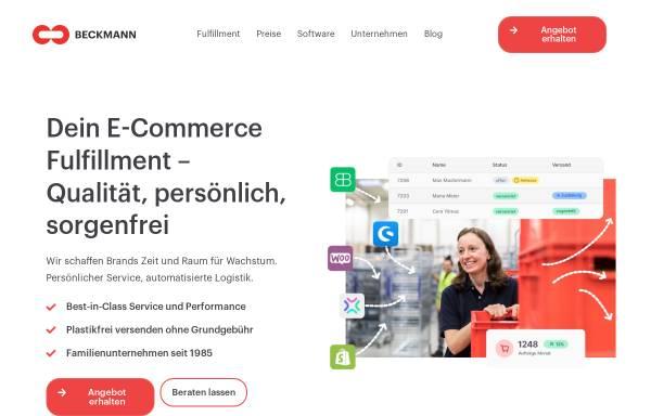 Vorschau von beckmannsys.com, Beckmann Systemlogistik GmbH