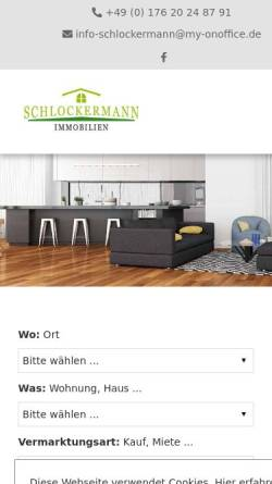 Vorschau der mobilen Webseite www.schlockermann-immobilien.de, Schlockermann-Immobilien