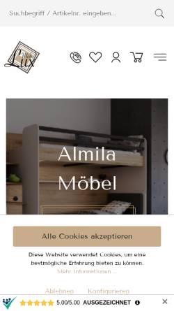 Vorschau der mobilen Webseite moebel-lux.de, Möbel Lux