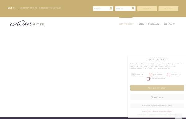 Vorschau von www.apart-hotel-eisenach.de, Suites MITTE