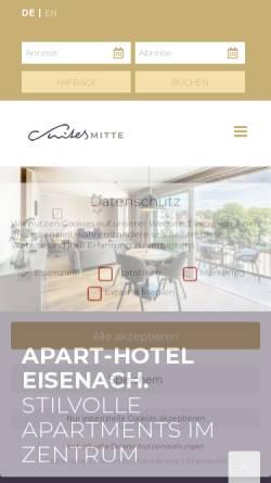 Vorschau der mobilen Webseite www.apart-hotel-eisenach.de, Suites MITTE