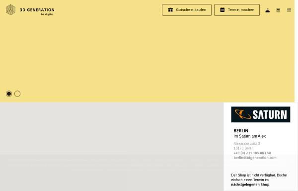 Vorschau von www.3dgeneration.com, 3D GENERATION GmbH