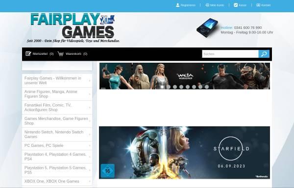 Vorschau von www.fairplay-games.de, Fairplay Games V