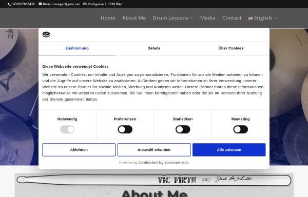Vorschau von www.florian-drums.com, Mag.art. Florian Stöger