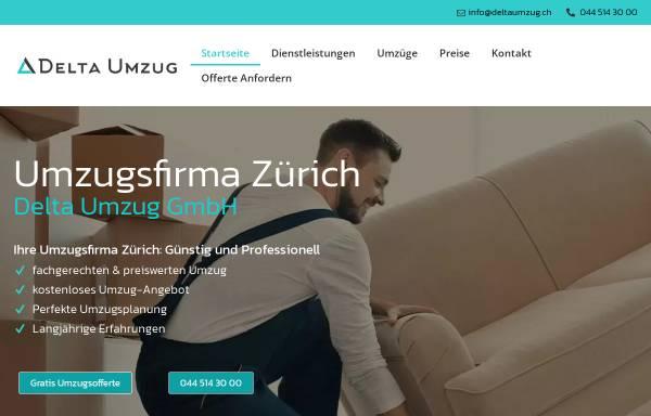 Vorschau von deltaumzug.ch, Delta Umzug GmbH
