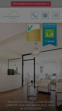 Vorschau der mobilen Webseite www.zahnarzt-am-malkasten.de, Dr. Stephanus Steuer