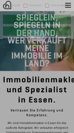 Vorschau der mobilen Webseite www.heimatliebe-immobilien.de, Heimatliebe Immobilien GmbH