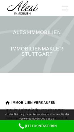 Vorschau der mobilen Webseite alesi-immobilien.de, Alesi Immobilien