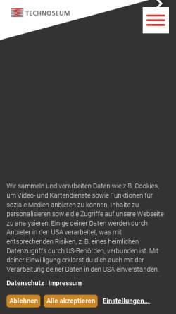 Vorschau der mobilen Webseite www.technoseum.de, TECHNOSEUM