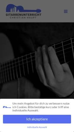 Vorschau der mobilen Webseite gitarrenunterricht-christianhaupt.de, Gitarrenunterricht - Christian Haupt