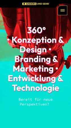 Vorschau der mobilen Webseite www.andersundsehr.com, anders und sehr GmbH