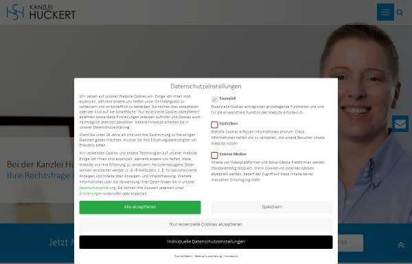 Vorschau von www.kanzlei-huckert.de, Rechtsanwältin Simone Huckert