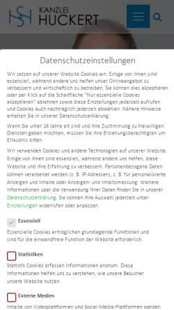 Vorschau der mobilen Webseite www.kanzlei-huckert.de, Rechtsanwältin Simone Huckert