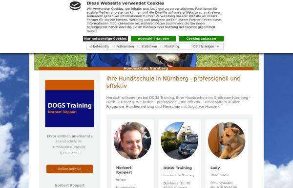 Vorschau von www.dogs-training.eu, DOGS Training