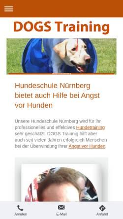 Vorschau der mobilen Webseite www.dogs-training.eu, DOGS Training