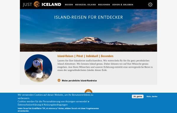 Vorschau von just-iceland.com, JUST ICELAND