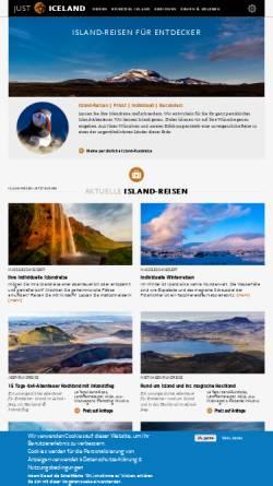 Vorschau der mobilen Webseite just-iceland.com, JUST ICELAND