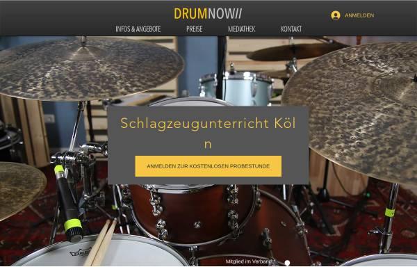 Vorschau von www.drumnow.de, Drumnow Tonstudio & Unterrichtsraum