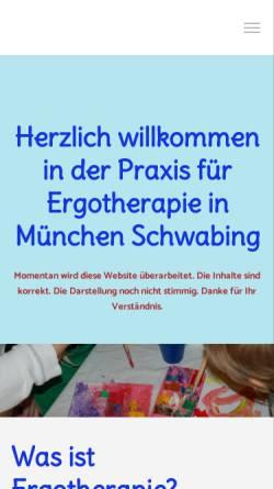 Vorschau der mobilen Webseite www.ergotherapie-biegner.de, Praxis für Ergotherapie Martina Biegner