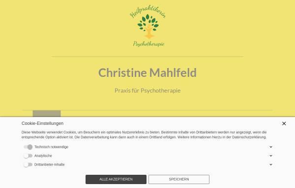 Vorschau von www.psychotherapie-mahlfeld.de, Christine Mahlfeld