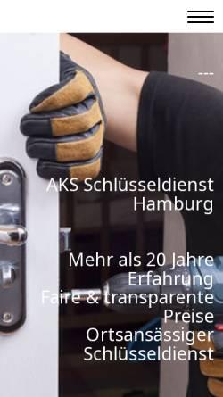 Vorschau der mobilen Webseite www.allesklar-sicherheitstechnik.de, ALLES Klar Schlüsselnotdienst