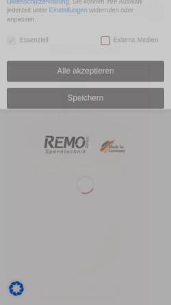 Vorschau der mobilen Webseite www.spannbacken.store, REMO GmbH