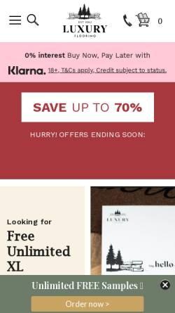 Vorschau der mobilen Webseite www.luxus-boden.de, Luxus-Boden