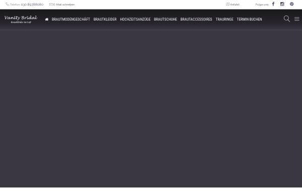 Vorschau von vanitybridal.de, Vanity Bridal GmbH