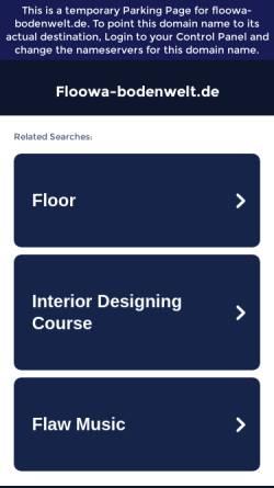 Vorschau der mobilen Webseite floowa-bodenwelt.de, floowa Bodenwelt