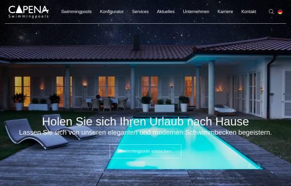 Vorschau von www.capena.eu, Capena GmbH Swimmingpools