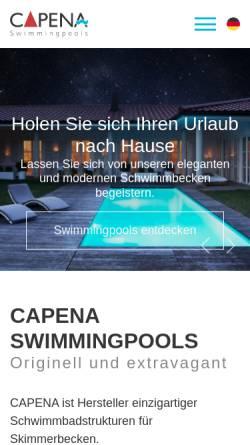 Vorschau der mobilen Webseite www.capena.eu, Capena GmbH Swimmingpools