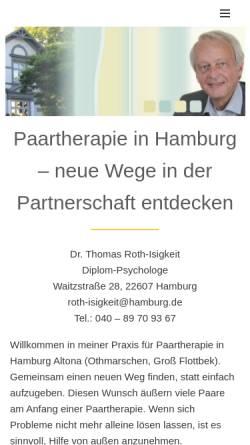 Vorschau der mobilen Webseite paarberatung-othmarschen.de, Dr. Thomas Roth