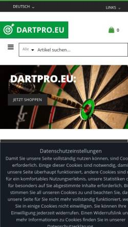 Vorschau der mobilen Webseite www.dartpro.eu, Dartpro.eu