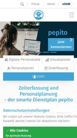 Vorschau der mobilen Webseite pep-ito.de, Pep-ito