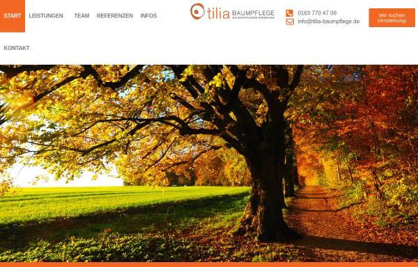 Vorschau von tilia-baumpflege.de, Tilia Baumpflege GmbH & Co. KG