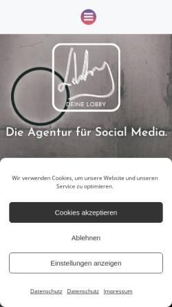 Vorschau der mobilen Webseite deinelobby.com, DEINE LOBBY