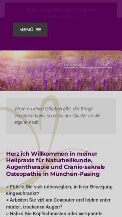 Vorschau der mobilen Webseite heilpraktiker-neuwinger.de, Ursula Neuwinger