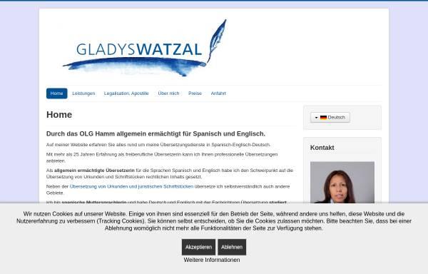 Vorschau von www.uebersetzung-paderborn.de, Gladys Watzal