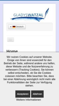 Vorschau der mobilen Webseite www.uebersetzung-paderborn.de, Gladys Watzal