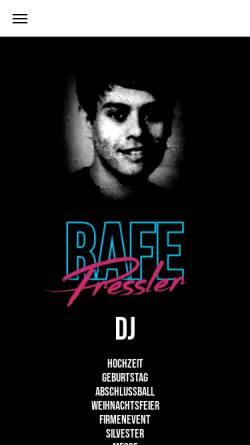 Vorschau der mobilen Webseite www.rafepressler.de, Rafe Pressler