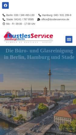 Vorschau der mobilen Webseite www.dustlesservice.de, DustlesService GmbH