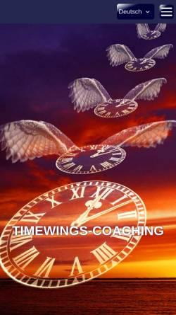 Vorschau der mobilen Webseite www.timewings-coaching.com, Timewings Coaching