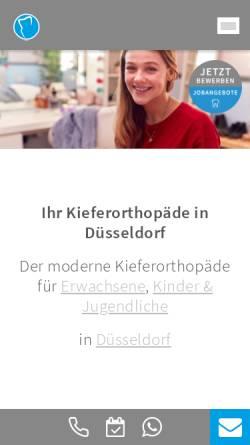 Vorschau der mobilen Webseite www.duesseldorf-kieferorthopaeden.de, Dr. Höschel & Kollegen