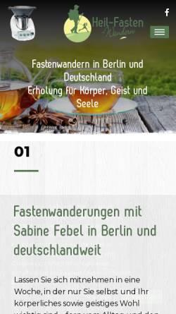 Vorschau der mobilen Webseite www.heil-fasten-wandern.de, bpV Health-GmbH
