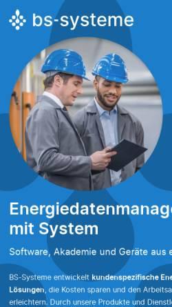 Vorschau der mobilen Webseite www.bs-systeme.de, BS-Systeme GmbH