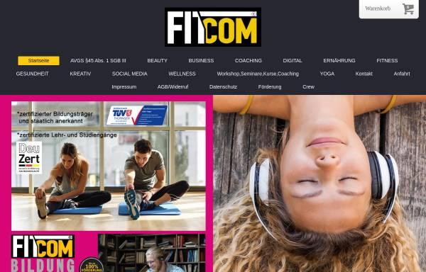 Vorschau von www.fitcom-akademie.com, Fitcom Akademie - zertifizierte Bildungseinrichtung, Weiterbildung deutschlandweit