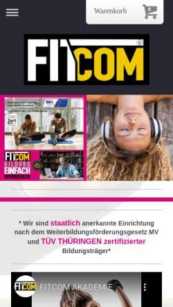 Vorschau der mobilen Webseite www.fitcom-akademie.com, Fitcom Akademie - zertifizierte Bildungseinrichtung, Weiterbildung deutschlandweit
