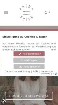 Vorschau der mobilen Webseite cosmopolka.com, COSMOPOLKA
